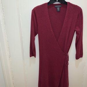 Banana republic size S maroon wrap dress
